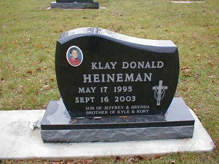 HEINEMAN, KLAY DONALD - Bremer County, Iowa | KLAY DONALD HEINEMAN