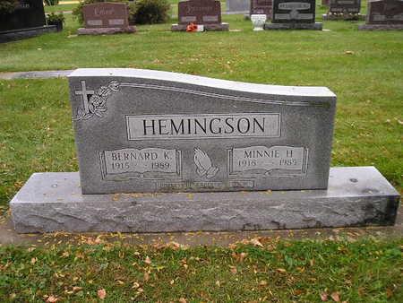 HEMINGSON, MINNIE H - Bremer County, Iowa | MINNIE H HEMINGSON