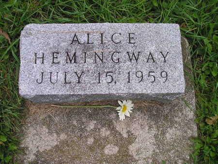 HEMINGWAY, ALICE - Bremer County, Iowa | ALICE HEMINGWAY