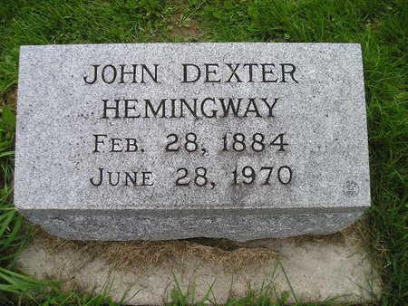 HEMINGWAY, JOHN DEXTER - Bremer County, Iowa | JOHN DEXTER HEMINGWAY