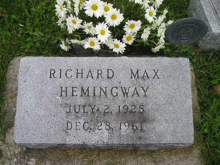 HEMINGWAY, RICHARD MAX - Bremer County, Iowa | RICHARD MAX HEMINGWAY