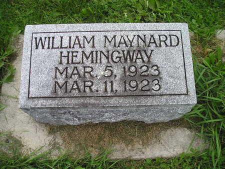HEMINGWAY, WILLIAM MAYNARD - Bremer County, Iowa   WILLIAM MAYNARD HEMINGWAY