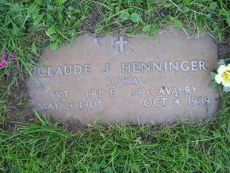 HENNINGER, CLAUDE J - Bremer County, Iowa   CLAUDE J HENNINGER