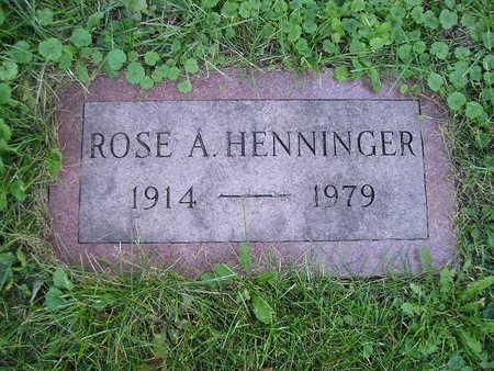 HENNINGER, ROSE A - Bremer County, Iowa | ROSE A HENNINGER