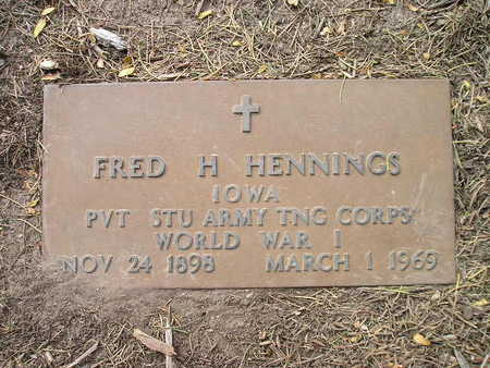 HENNINGS, FRED H - Bremer County, Iowa | FRED H HENNINGS