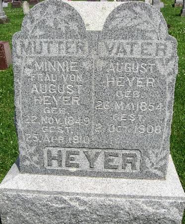 HEYER, MINNIE - Bremer County, Iowa   MINNIE HEYER
