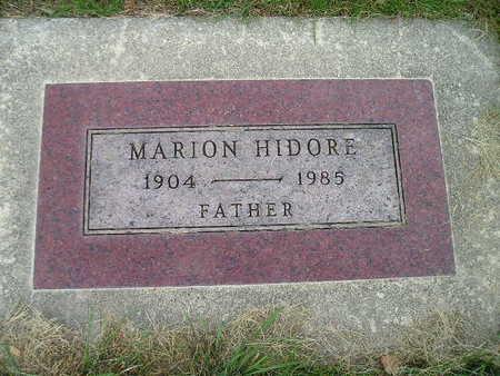 HIDORE, MARION - Bremer County, Iowa   MARION HIDORE