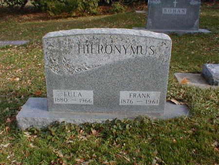 HIERONYMUS, LULA - Bremer County, Iowa   LULA HIERONYMUS