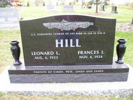 HILL, FRANCES I - Bremer County, Iowa | FRANCES I HILL