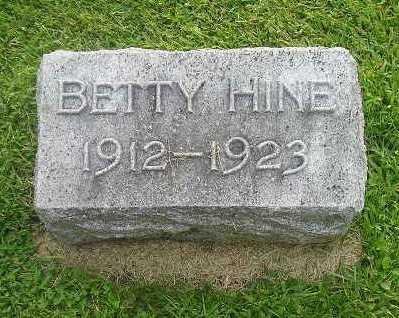 HINE, BETTY - Bremer County, Iowa | BETTY HINE