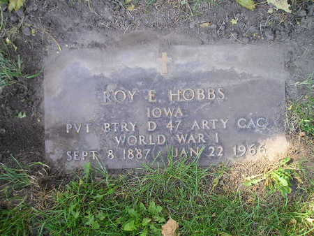HOBBS, ROY E - Bremer County, Iowa   ROY E HOBBS