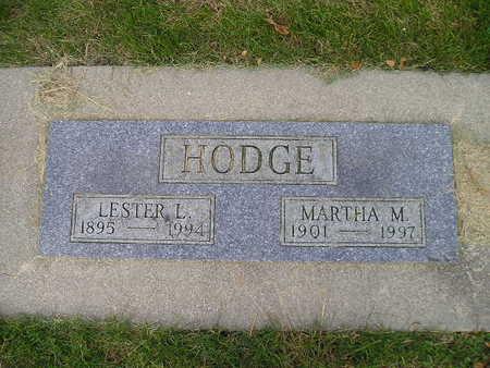 HODGE, LESTER L - Bremer County, Iowa | LESTER L HODGE