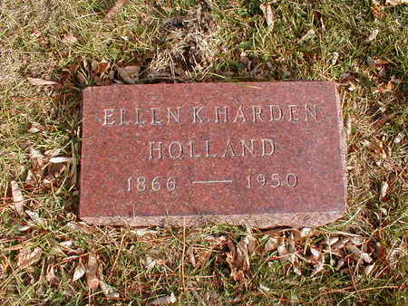 HARDEN HOLLAND, ELLEN K - Bremer County, Iowa   ELLEN K HARDEN HOLLAND