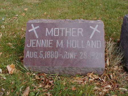 HOLLAND, JENNIE M - Bremer County, Iowa   JENNIE M HOLLAND