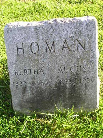 HOMAN, AUGUST - Bremer County, Iowa   AUGUST HOMAN