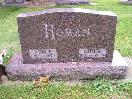 HOMAN, VERN F - Bremer County, Iowa   VERN F HOMAN