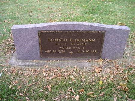 HOMANN, RONALD E - Bremer County, Iowa   RONALD E HOMANN