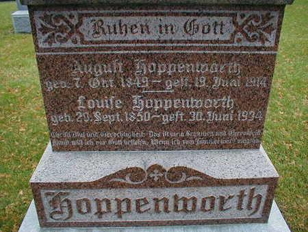 HOPPENWORTH, AUGUST LOUISE - Bremer County, Iowa | AUGUST LOUISE HOPPENWORTH