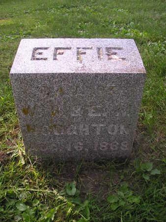 HOUGHTON, EFFIE - Bremer County, Iowa   EFFIE HOUGHTON