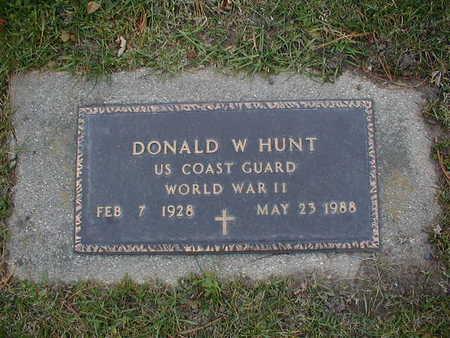HUNT, DONALD W - Bremer County, Iowa   DONALD W HUNT
