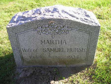 HURSH, MARTHA - Bremer County, Iowa   MARTHA HURSH