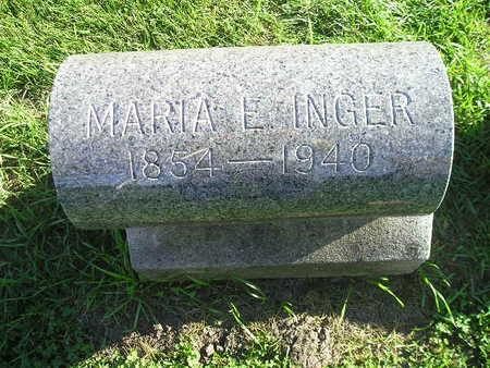 INGER, MARIA E - Bremer County, Iowa | MARIA E INGER