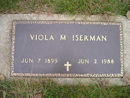 ISERMAN, VIOLA M - Bremer County, Iowa | VIOLA M ISERMAN