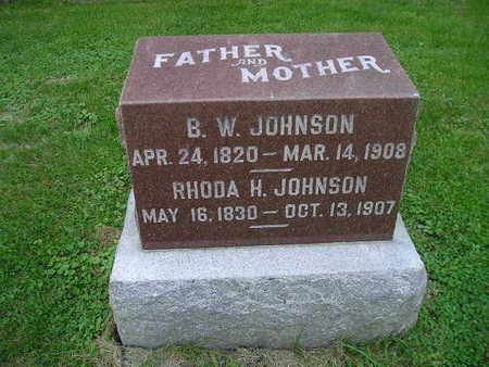 JOHNSON, RHODA H - Bremer County, Iowa   RHODA H JOHNSON