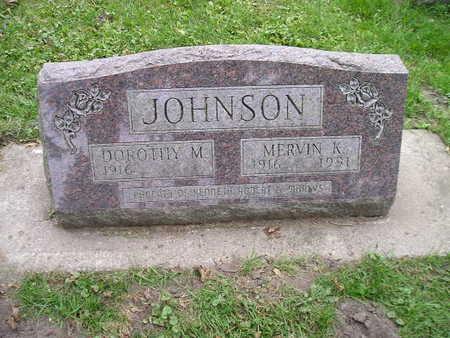 JOHNSON, DOROTHY M - Bremer County, Iowa   DOROTHY M JOHNSON