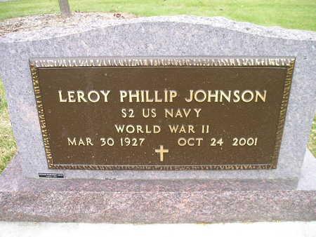 JOHNSON, LEROY PHILLIP - Bremer County, Iowa | LEROY PHILLIP JOHNSON