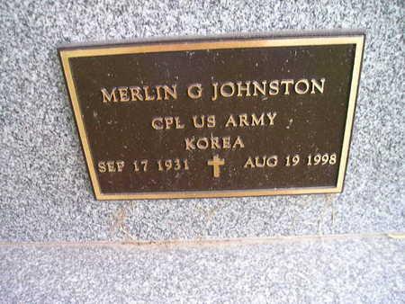JOHNSTON, MERLIN G - Bremer County, Iowa | MERLIN G JOHNSTON