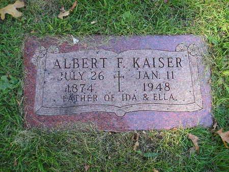 KAISER, ALBERT F - Bremer County, Iowa | ALBERT F KAISER