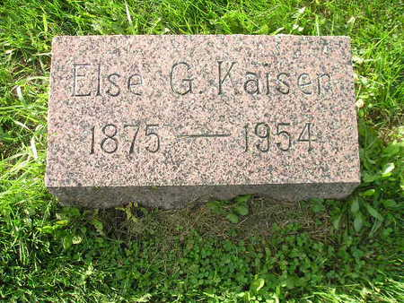 KAISER, ELSE G - Bremer County, Iowa | ELSE G KAISER