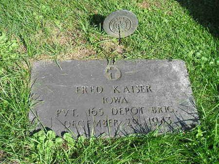 KAISER, FRED - Bremer County, Iowa | FRED KAISER