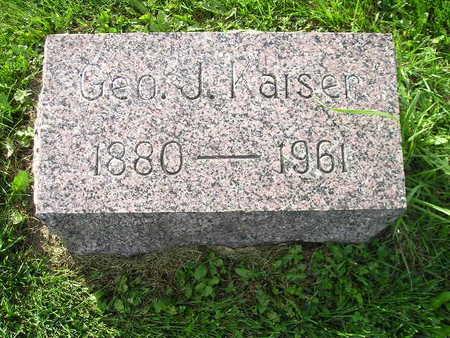 KAISER, GEO J - Bremer County, Iowa   GEO J KAISER