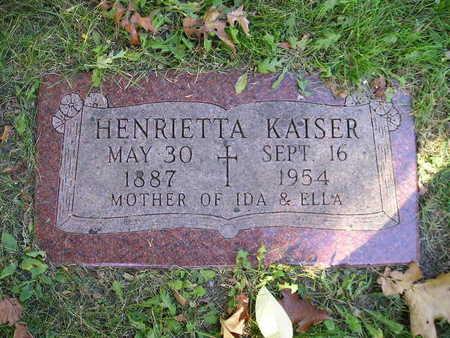 KAISER, HENRIETTA - Bremer County, Iowa | HENRIETTA KAISER