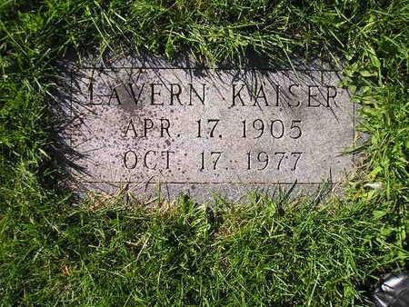 KAISER, LAVERN - Bremer County, Iowa   LAVERN KAISER