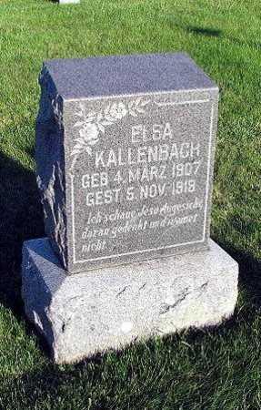 KALLENBACH, ELSA - Bremer County, Iowa | ELSA KALLENBACH