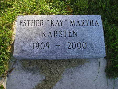 KARSTEN, ESTHER