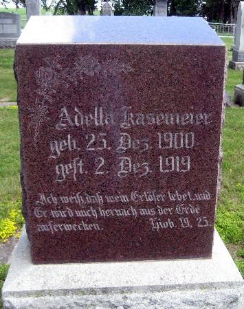 KASEMEIER, ADELLA - Bremer County, Iowa | ADELLA KASEMEIER