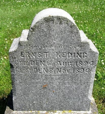 KEDING, ERNST - Bremer County, Iowa   ERNST KEDING