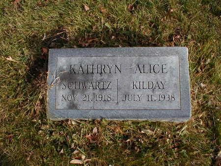 SCHWARTZ KILDAY, KATHRYN ALICE - Bremer County, Iowa   KATHRYN ALICE SCHWARTZ KILDAY