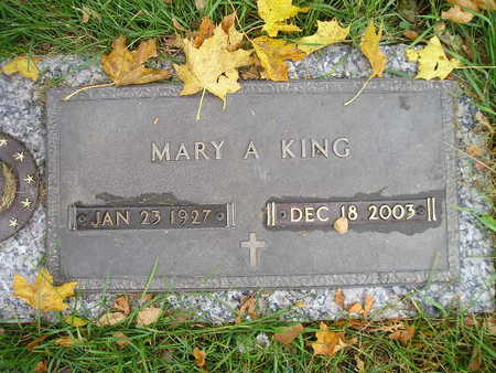 KING, MARY A - Bremer County, Iowa   MARY A KING