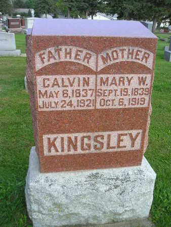 KINGSLEY, MARY W - Bremer County, Iowa | MARY W KINGSLEY