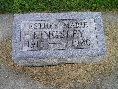 KINGSLEY, ESTHER MARIE - Bremer County, Iowa | ESTHER MARIE KINGSLEY