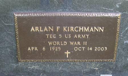 KIRCHMANN, ARLAN F. - Bremer County, Iowa   ARLAN F. KIRCHMANN
