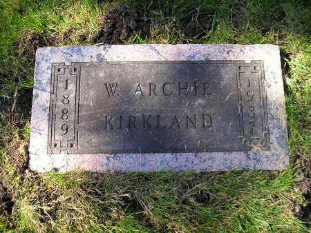 KIRKLAND, W ARCHIE - Bremer County, Iowa | W ARCHIE KIRKLAND