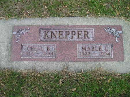 KNEPPER, MABLE L - Bremer County, Iowa | MABLE L KNEPPER