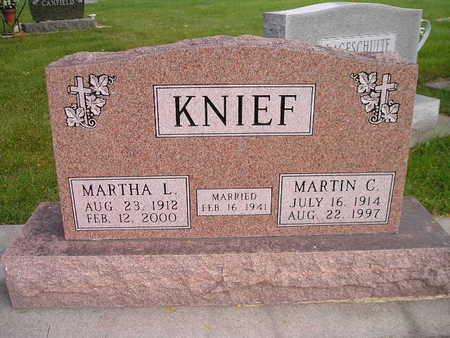 KNIEF, MARTIN C - Bremer County, Iowa | MARTIN C KNIEF