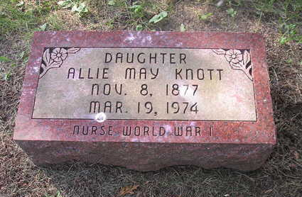 KNOTT, ALLIE MAY - Bremer County, Iowa | ALLIE MAY KNOTT